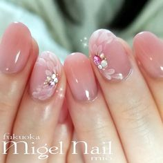 Wedding Nails-A Guide To The Perfect Manicure – NaiLovely Opi Gel Nails, Gem Nails, Nail Manicure, Pink Nails, Hair And Nails, Acrylic Nail Designs, Nail Art Designs, Acrylic Nails, Bridal Nails