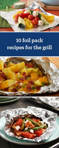 10 Foil Pack Recipes for Grilling – Heat up the barbecue and get ready to cook some foil pack recipes for the grill! These easy-to-follow recipes make cooking dinner entrees a cinch—whether you're looking for dinner ideas or something simple to cook for a lunch.