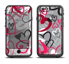 The Vector Love Hearts Collage Apple iPhone 6/6s Plus LifeProof Fre Case Skin Set from DesignSkinz