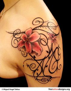 Love this tattoo, maybe change the flowers up a little bit.