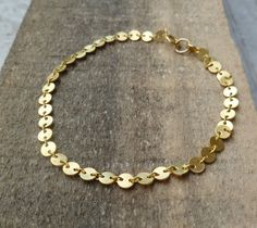 golden bracelet simple bracelet christmas gift everyday by laliv, $17.00