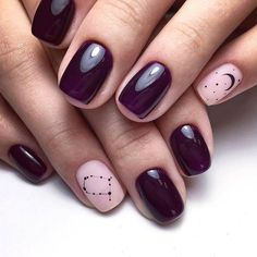 pink and purple matched nail arts - trending style