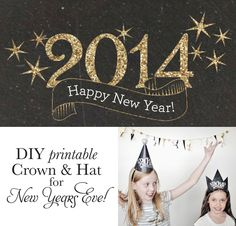15 free New Years Eve printables : 15 free New Years Eve printables I Heart Nap Time New Years Hat, New Years Eve Day, New Year Printables, Free Printables, Party Printables, Crown Template, Heart Template, Butterfly Template, Flower Template