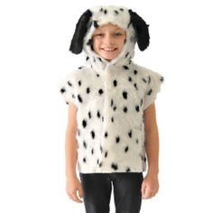 Dalmatian T-shirt Style Costume for Kids by Charlie Crow. $26.00. Dalmatian fur T-shirt syle costume for kids with hood and tail.