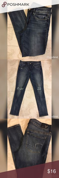 American Eagle 🦅Size 8 High Rise Jegging Short American Eagle 🦅 High Rise Jegging Short Size 8 Jeans 👖 length 28 American Eagle Outfitters Jeans