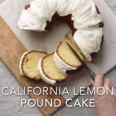 California Lemon Pound Cake Recipe
