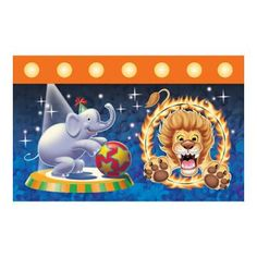 Circus Party! Such cute stuff for a Carnival or Circus theme for a birthday party! http://store.watkinspartystore.com/birthday-generic-circus  Big Top - Tablecover 54x108