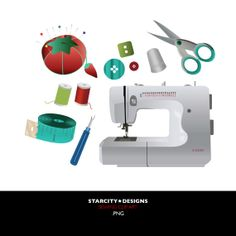 Sewing Clip Art Clipart Vector Art Graphics for by StarcityDesigns, $4.00