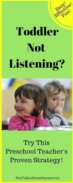 Easy and effective strategy to help your toddler listen and follow directions. Try it; it works!