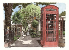 british phonebooth D st  by Pete Scully, via Flickr