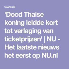 'Dood Thaise koning leidde kort tot verlaging van ticketprijzen' | NU - Het laatste nieuws het eerst op NU.nl