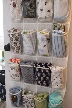 Sometimes it feels like baby has a bigger wardrobe than mom, right? If that's the case in your home, use each pocket in a shoe organizer to stash away a onesie with ease. See more at Susan Harris »