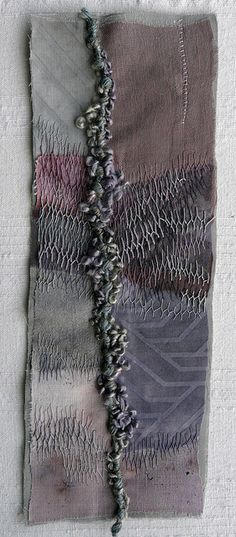 Untitled - Hand stitch by Fi@84 Fiona Rainford...the contrast of the background gives the eye a resting place....c