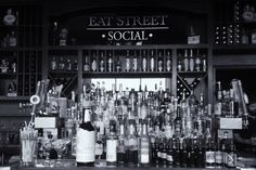 Eat Street Social Welcome to Eat Street Social. Yes, the adventure continues on Whittier Neighborhood's Eat Street, as Joe Wagner and Sam Bonin go at it for phase two. What to expect? We offer a full bar and menu, live entertainment, along with private event space (the torpedo room) and come spring, a large outdoor patio!   Come on down and check us out for what will surely be a memorable & social occasion.