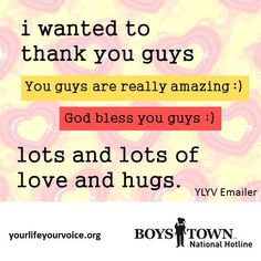 YLYV Thank You | yourlifeyourvoice.org | quotes
