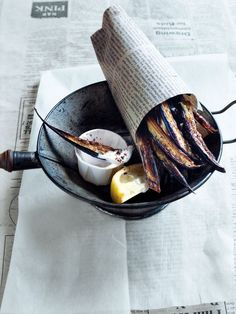 ♂ Food styling photography still life sumac eggplant chips with yoghurt