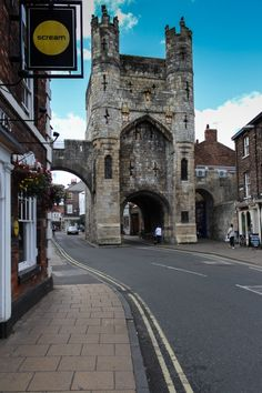 The Monk Bar, York in England was built in the early 14th century. The current gatehouse was built on the site of the Roman gate