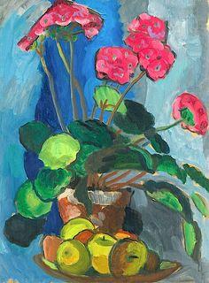 GABRIELE MÜNTER (1877-1962). Stillleben Mit Roten.