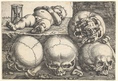 Barthel Beham | Dead Child with Four Skulls | The Met