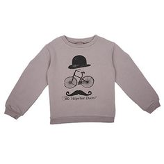 The Hipster Dam Printed Sweatshirt by Emile Et Ida - Junior Edition www.junioredition.com