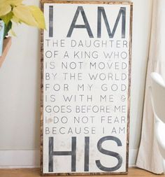 Daughter of the King. For our baby girls room <3