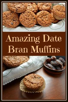 Date bran muffins. I know I said the B word, but don't click away just yet.these really are surprisingly amazing date bran muffins. Muffin Tin Recipes, Healthy Muffin Recipes, Healthy Baking, Vegan Bran Muffin Recipe, Oat Bran Cookies Recipe, Bran Bread Recipe, Oat Bran Recipes, Date Recipes Healthy, Brunch Recipes