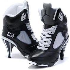 www.asneakers4u.com/ Nike Air Jordan 5 High Heels Black White