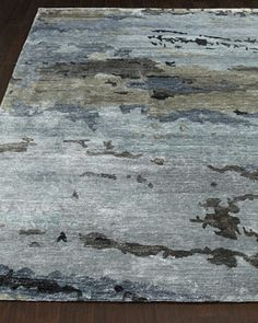 Casalino Rug - dramatic and modern but still understated and neutral. This rug may give the room the visual interest it needs...I love that it resembles an abstract watercolor ~WW
