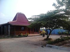 Javanese traditional house, it's called Joglo