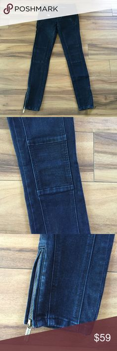 Moto Jeans. MK Moto Jeans. Zip pocket and ankle detailing. Purchased at a Michael Kors store. Gently worn. Michael Kors Jeans Skinny