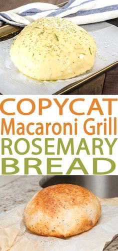 macaroni grill bread copycat rosemary bread recipe. Best ever Macaroni Grill Bread Copycat Rosemary Bread recipe. This bread is wonderful to pair with many different soups. This is an easy bread recipe and one of our favorite copycat recipes.