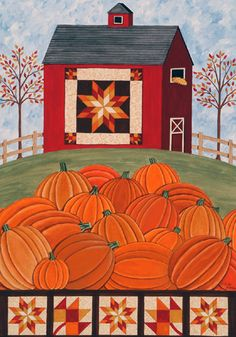Custom Decor Flag   Pumpkin Barn Decorative Flag At Garden House Flags At  GardenHouseFlags