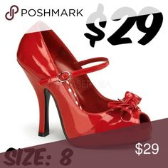 c32796373d6 Women s Pin Up Couture Cutiepie 08 - Red Patent Leather Heels · Pinup  CoutureSexy ...