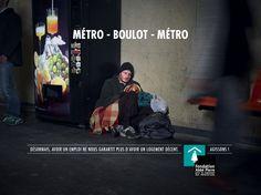"""""""Métro-Boulot-Métro"""" - Campagne de sensibilisation Fondation Abbé Pierre 2014-15"""