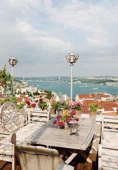 In Istanbul, it's all about sunset sipping from the rooftop terrace of 5.Kat, founded by a famous Turkish independent-movie actress.