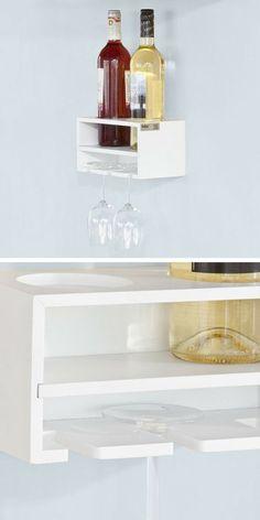 Porte-bouteilles et porte-verres à vin à accrocher au mur de la cuisine ou du salon Living Room Designs, Diy And Crafts, Shelves, Simple, House, Home Decor, Do It Yourself Crafts, Diy Ideas For Home, Do Crafts