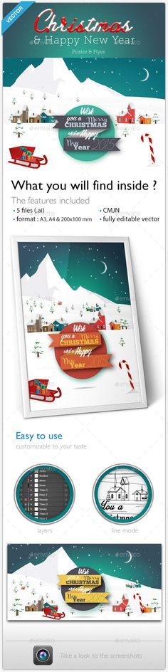 Christmas Party Invitation Flyer/Poster PSD Flyer Template - Invitation Flyer Template