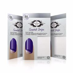 Swatch Strips 192ct. from Everything Nailz  You can apply under polish, gel, acrylic or false nails for the easiest quick change you've ever experienced. Just peel off and start again.…