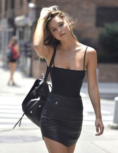 """redleatherdress: """"Simple , yes? But this look is perfect. All black """""""