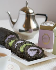 Black Sesame Tea Roulades | Thirsty for Tea