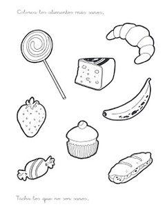 ALIMENTACIÓN Y NUTRICIÓN PARA NIÑOS PREESCOLARES Math Coloring Worksheets, Preschool Worksheets, Paper Doll House, Paper Dolls, Combining Like Terms, Space Drawings, Free Printable Worksheets, Free Printables, Cooking Classes