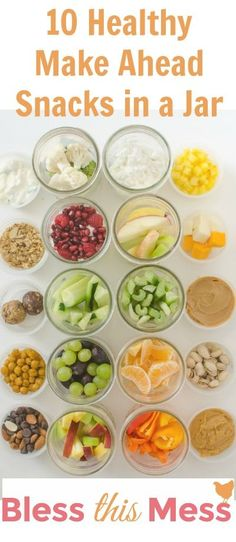 Healthy Snacks in a Jar that can be prepped ahead for your busy day