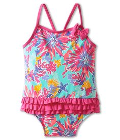 Lilly Pulitzer Kids Isa Swimsuit (Infant) Aqua Trippin