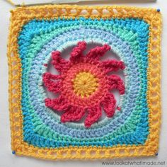 Lookatwhatimade Blooming Lace round 9 Block 6:  Blooming Lace Square {Photo Tutorial}