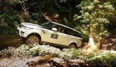 Training experience: Land Rover vehicles on an off-road driving experience.