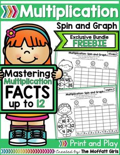 Why can't practicing multiplication facts be fun? Turn math into a game and let your students practice with this exclusive bundle freebie, the Multiplication Spin and Graph NO PREP Packet.