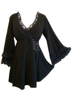 Plus Size Black Gothic Victoria Corset Top - Click Image to Close