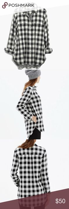 Madewell ex-boyfriend shirt in shaw plaid Size Small in great condition no stains no rips PRODUCT DETAILS A timeless style in a simple gingham. Slightly oversized with ready-to-roll sleeves, this version is just right.    True to size. Cotton. Machine wash. Import. Item B5864 Madewell Tops Button Down Shirts