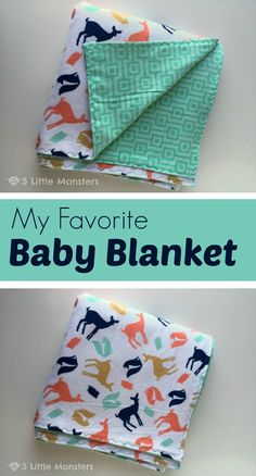 My favorite quick and easy baby blanket tutorial. This big double layer flannel blanket is a perfect gift idea for new babies. My favorite quick and easy baby blanket tutorial. This big double layer flannel blanket is a perfect gift idea for new babies. How To Sew Baby Blanket, Baby Blanket Tutorial, Easy Baby Blanket, Quilted Baby Blanket, Blanket Crochet, Crochet Baby, Baby Sewing Projects, Sewing Projects For Beginners, Sewing Hacks