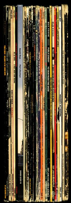 "Hip Hop Spines by Bughouse. Digitally printed to archival standards using fine art canvas and pigmented inks 60"" x 22"" Secession Art & Design"